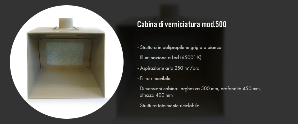 Cabina di verniciatura mod. 500