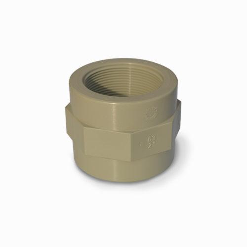"""0072 Raccordo di passaggio 1""""1/2 x 50 mm polipropilene"""